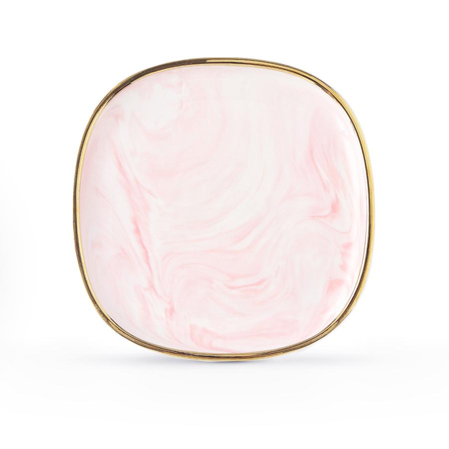 """Тарелка 19 см., серии """"Антиб"""" нежно-розового цвета, костяной фарфор 100%"""