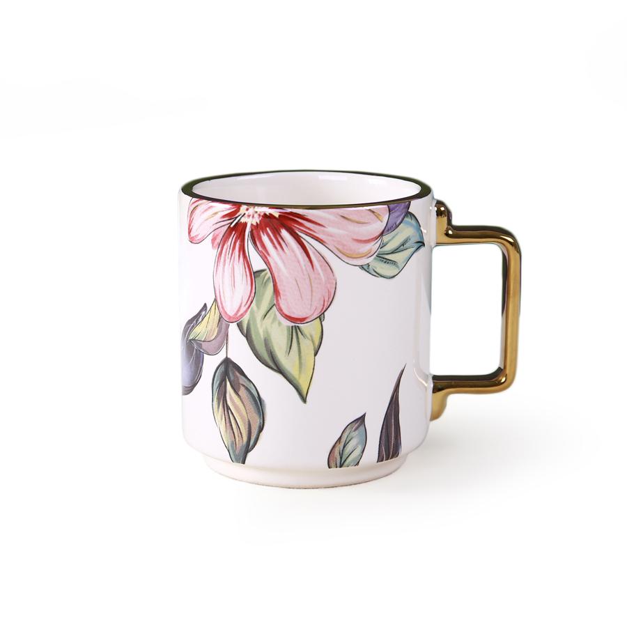 """Чашка 7*8 серия """"Цветы"""", 100% костяной фарфор"""
