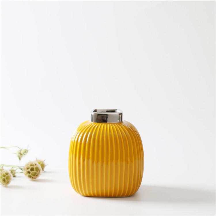 Керамическая ваза Сан-Ремо «Горчичная» 15 см.