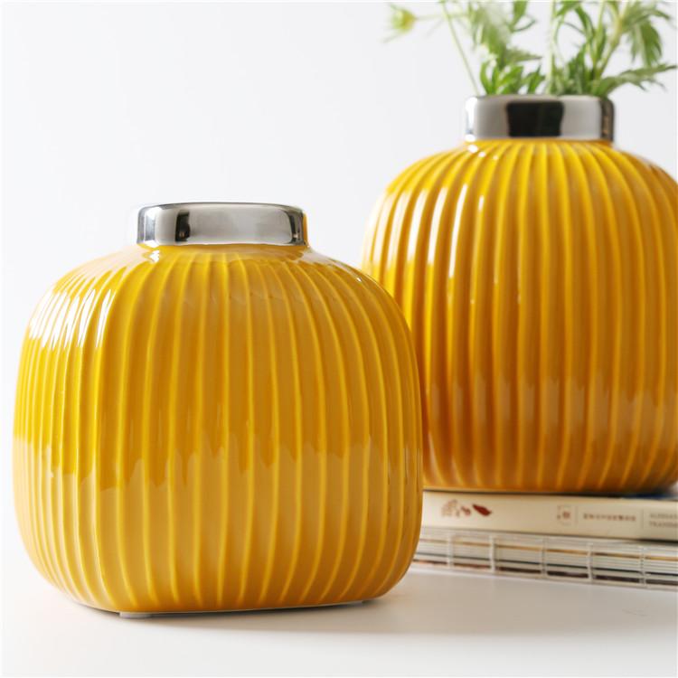 Керамические вазы Сан-Ремо «Горчичная» 15 см.