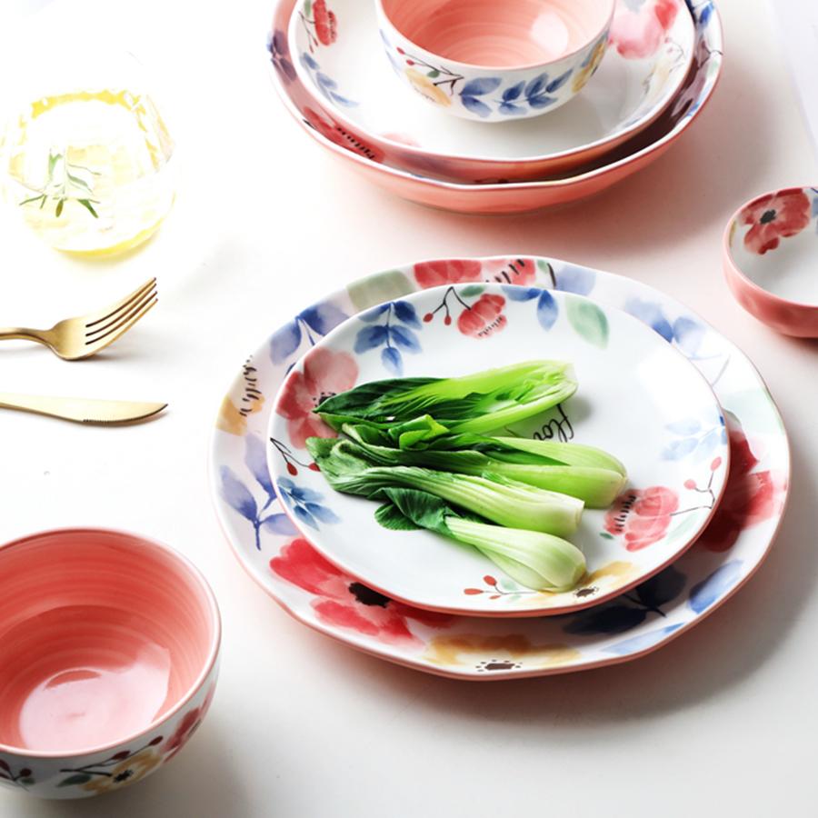 """Тарелки столовые серии """"Сила цветов"""", 100% костяной фарфор, Китай"""