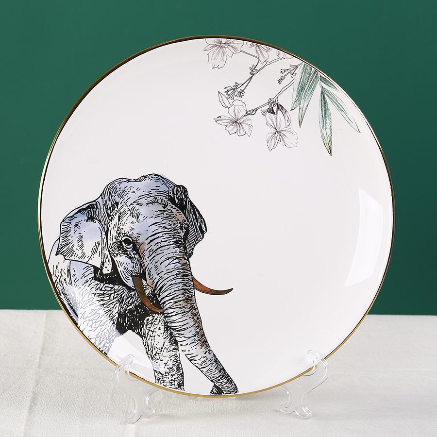 """Тарелка серии """"Дикие животные"""" с изображением слона 25 см."""