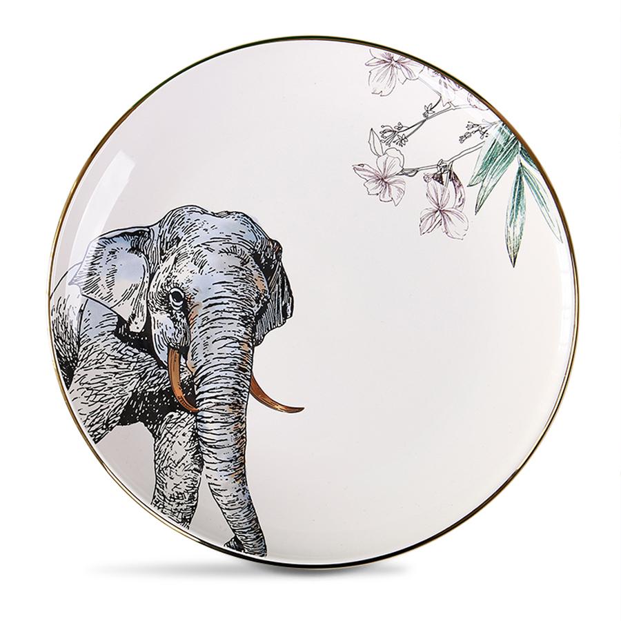 """Столовая тарелка со слоном серия """"Дикие животные"""" 25 см."""