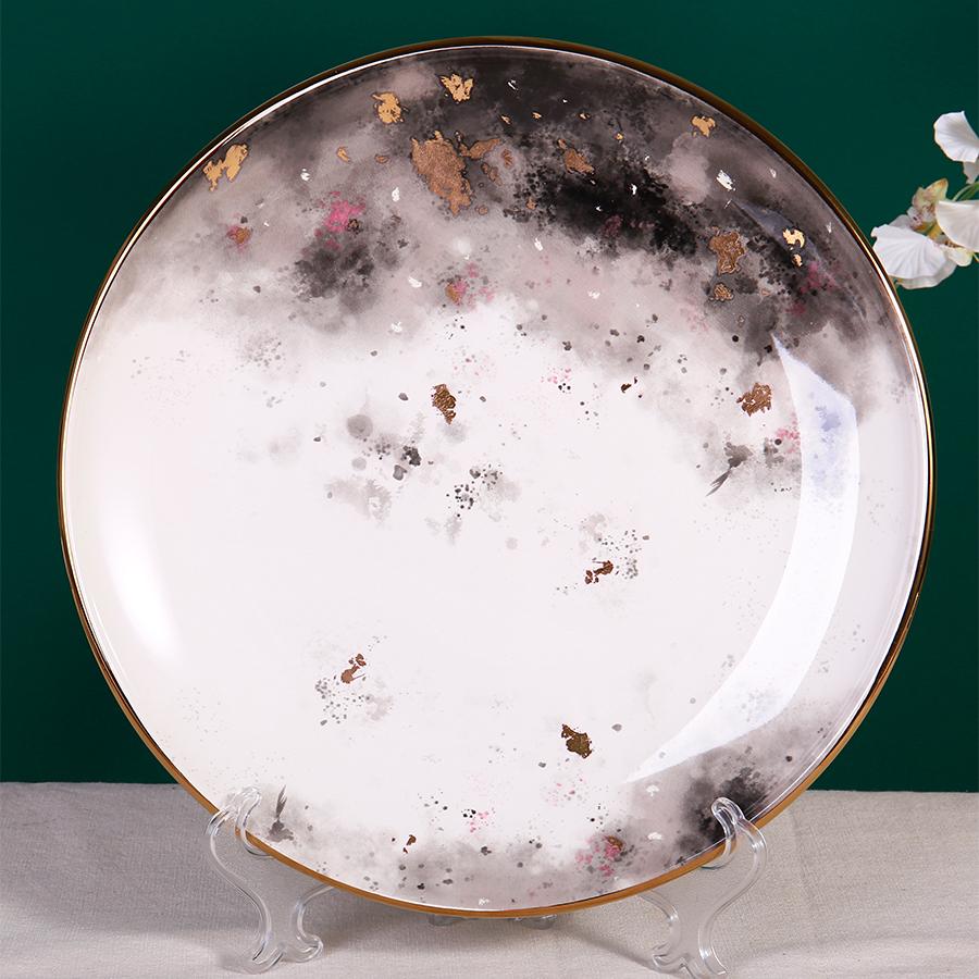 Тарелка костяной фарфор 100% «Космос» 25 см.