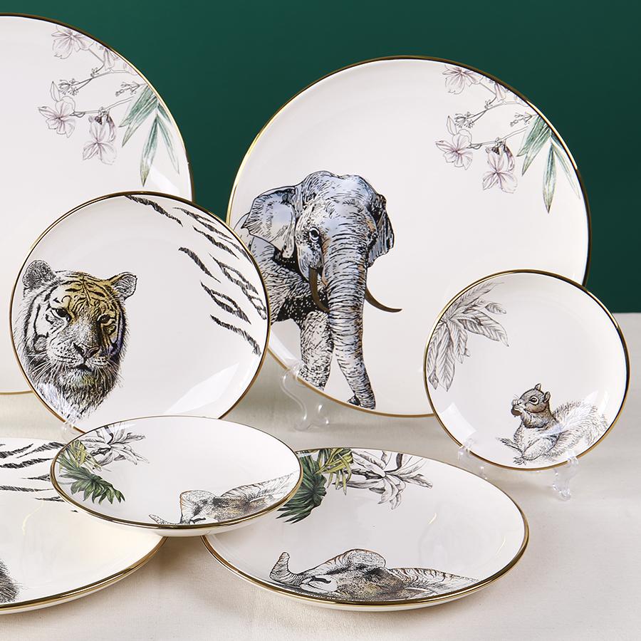 """Набор столовых тарелок серии """"Дикие животные"""", 4 шт."""